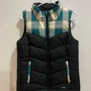The North Face 550 down plaid vest